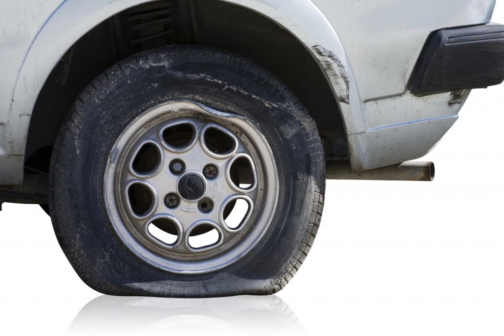 pneu à plat